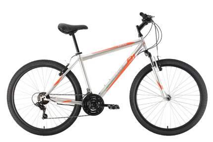 """Велосипед Black One Onix 26 2021 18"""" серебристый/оранжевый"""
