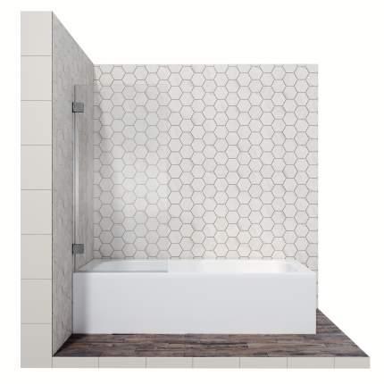 Шторка для ванны Ambassador Bath Screens 16041101, с распашной дверью, 70 см