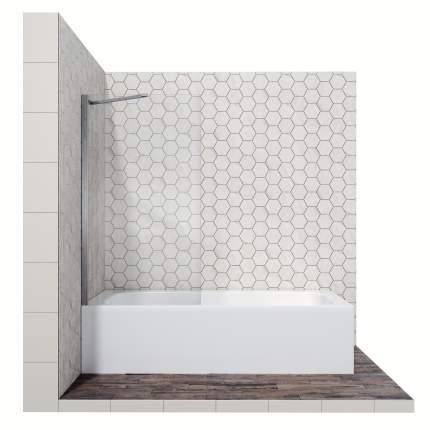 Шторка для ванны Ambassador Bath Screens 16041103, с неподвижной дверью, 80 см