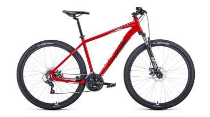 """Велосипед Forward Apache 29 2.2 Disc 2021 17"""" красный/серебристый"""