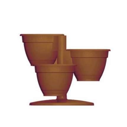 Кашпо садовое Техпласт 5PL0397 Антик шоколад