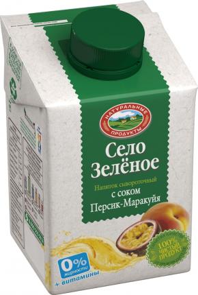 Сывороточный напиток Село Зеленое персик-маракуйя 6 витаминов 500 г бзмж