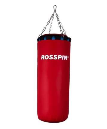 Боксерский мешок, 10 кг, ПВХ, песок и опилки, красный.