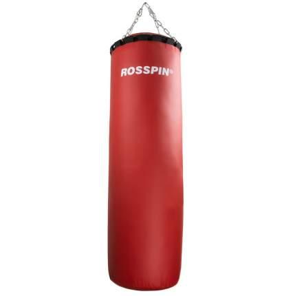 Боксерский мешок, 50 кг, ПВХ, песок и опилки, красный.