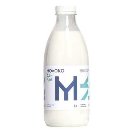 Молоко Братья Чебурашкины питьевое пастеризованное 3,6-4,6% 1 л