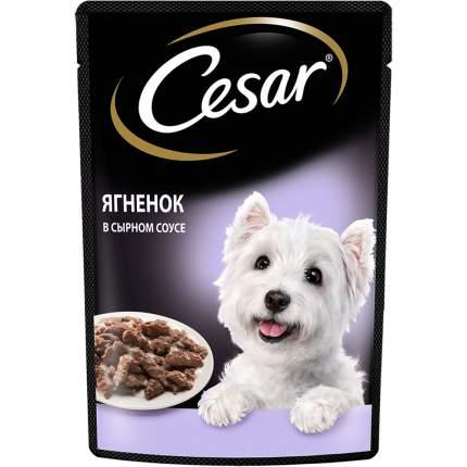 Влажный корм для собак Cesar , Ягненок в сырном соусе , 85г