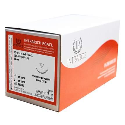 Синтетические нити Intrarich ПОЛИГЛИКОЛИД-КО-КАПРОЛАКТОН 3D-0,5x16-(4-0)-PGACL-(2-90)