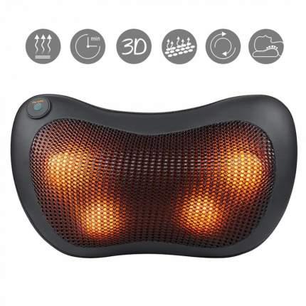 Массажная роликовая подушка с ИК-прогревом Massager Pillow FITSTUDIO (3 режима, черная)