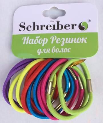 Комплект резинок для волос Schreiber 12 шт с европодвесом.