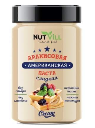 Паста арахисовая сладкая USA  NutVill 180 г