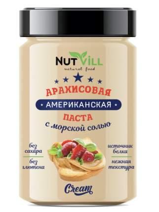 Паста арахисовая с морской солью USA  NutVill 180 г