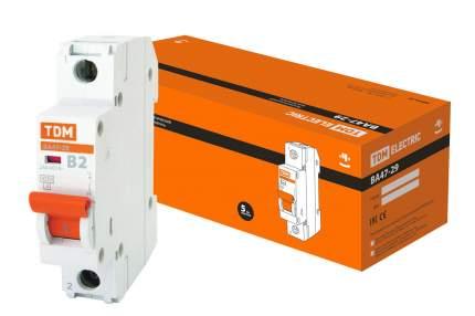 Автоматический выключатель TDM ELECTRIC ВА47-29 1Р  2А 4,5кА х-ка В SQ0206-0002