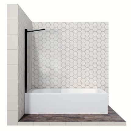 Шторка для ванны Ambassador Bath Screens 16041206, с неподвижной дверью, 70 см