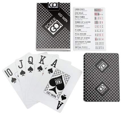 Игральные карты PokerGo black poker size index jumbo 54 штуки 63x88