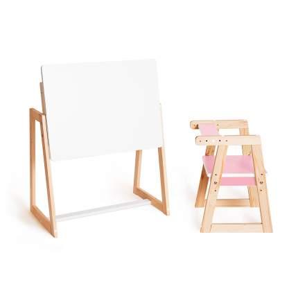 Детская растущая парта и стул Я САМ Краски, цвет розовый