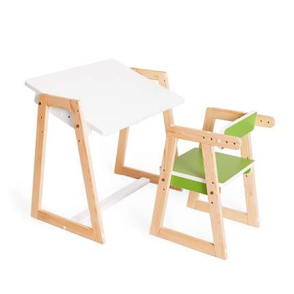 Детская растущая парта и стул Я САМ Краски, цвет зеленый