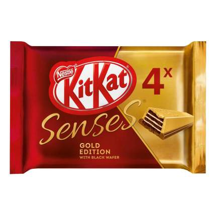Шоколад KitKat Senses Gold Edition Deluxe Белый карамель-молочный шоколад с вафлей 116 г