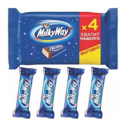 Шоколадный батончик Milky Way молочный с суфле 26 г x 4 шт