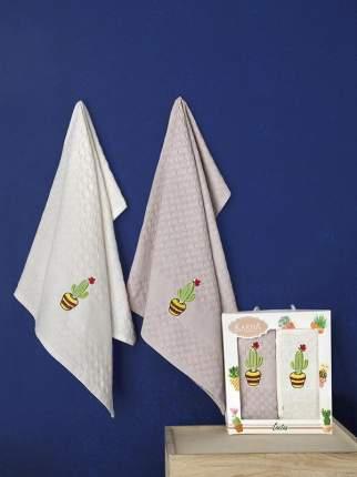Вафельные хлопковые полотенца KARNA PEDRO V3 45х65 (2шт)
