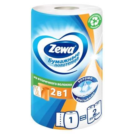 Бумажные полотенца Zewa 2в1 1/2 листа; 1 рулон