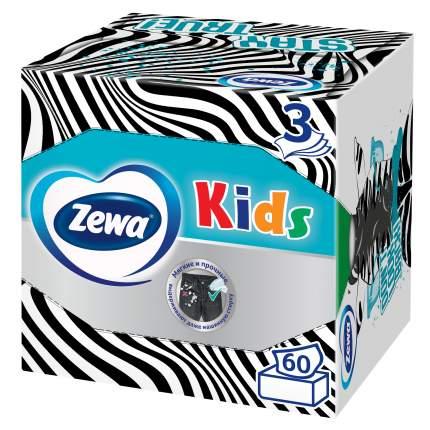 Детские Салфетки Бумажные Zewa Kids, 3 слоя, 60 шт.