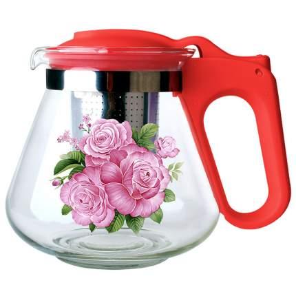 """Чайник заварочный с фильтром """"Alpenkok"""" АК-5512/16A, 700 мл (коралловый)"""
