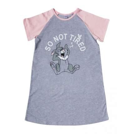 Ночная сорочка для девочек KOTTONI цв. серо-розовый, р. 122-128