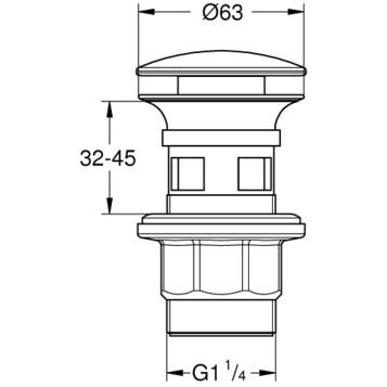Донный клапан для раковины GROHE Grohe 40824000