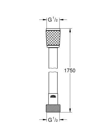 Душевой шланг пластиковый GROHE Relexaflex 45992001