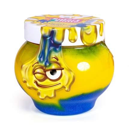 Лизун Genio Kids Мялка-жмялка 2 в 1 желто-синий
