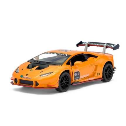 Машина метал Lamborghini Huracán LP620-2 Super Trofeo, 1:36, оранжевый