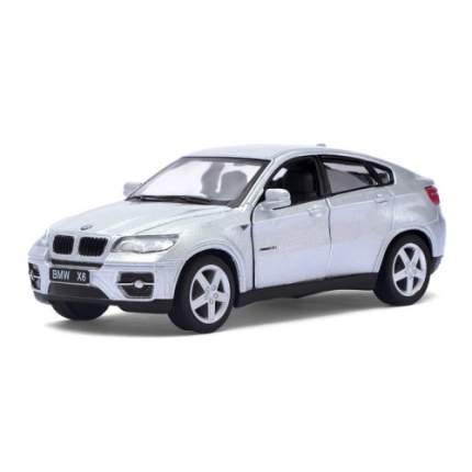 Машина металлическая BMW X6, 1:38, инерция, цвет серебро Kinsmart