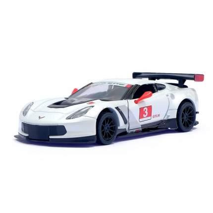 Машина металлическая Chevrolet Corvette C7.R Race Car, 1:36, инерция, цвет белый Kinsmart