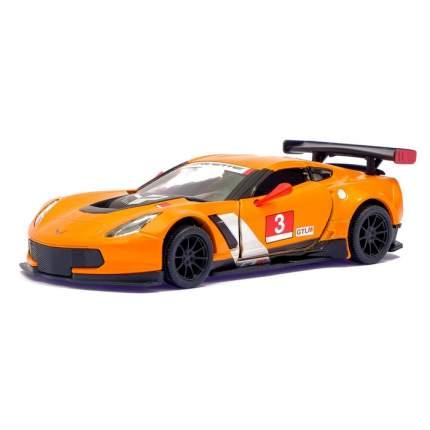 Машина металлическая Kinsmart Chevrolet Corvette C7.R Race Car, 1:36, оранжевый