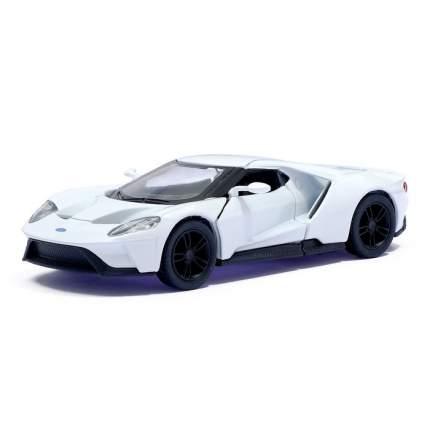 Машина металлическая Ford GT, 1:38, инерция, цвет белый Kinsmart