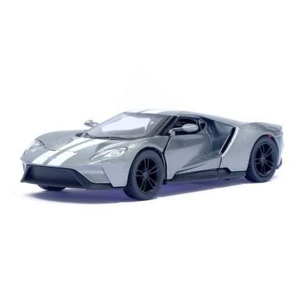 Машина металлическая Ford GT, 1:38, инерция, цвет серый Kinsmart