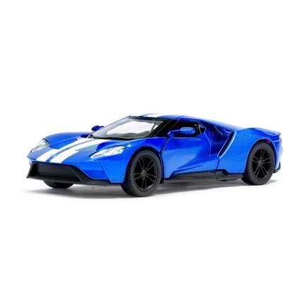 Машина металлическая Ford GT, 1:38, инерция, цвет синий Kinsmart