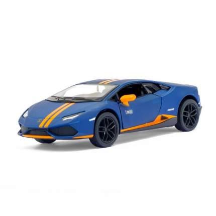 Машина металлическая Kinsmart Lamborghini Huracán LP610-4 Avio matte, 1:36, синий