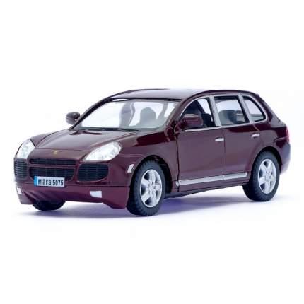 Машина металлическая Porsche Cayenne Turbo, 1:38, инерция, цвет бордовый Kinsmart