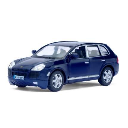 Машина металлическая Porsche Cayenne Turbo, 1:38, инерция, цвет синий Kinsmart