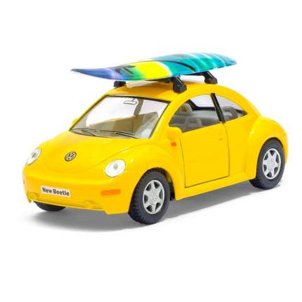 Машина металлическая VW New Beetle, 1:32, инерция, цвет жёлтый Kinsmart