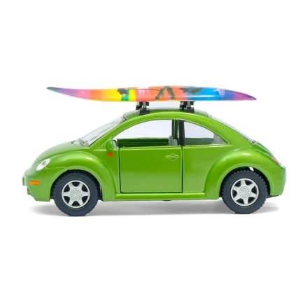 Машина металлическая VW New Beetle, 1:32, инерция, цвет зелёный Kinsmart