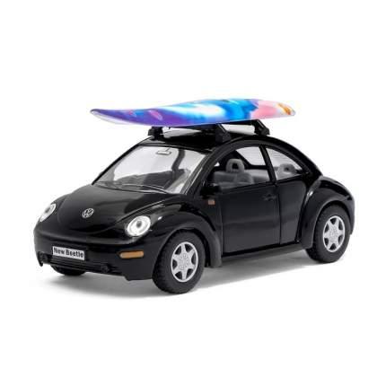 Машина металлическая VW New Beetle, 1:32, инерция, цвет чёрный Kinsmart