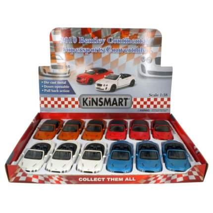 Машина металлическая Kinsmart Bentley Continental Supersports Convertible, 1:38, красный