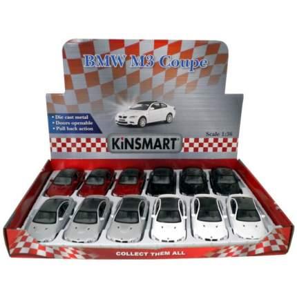 Машина металлическая Kinsmart BMW M3 Coupe, 1:36, черный