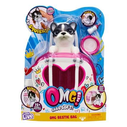 Сквиши-щенок Moose OMG Pets! в переноске
