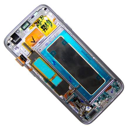 Дисплей для Samsung SM-G935F (Galaxy S7 Edge) в сборе с тачскрином <черный> (OEM)