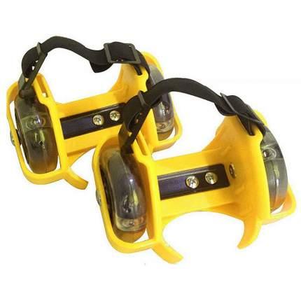 Роликовые коньки на пятку TZHF Small whirlwind pulley желтые
