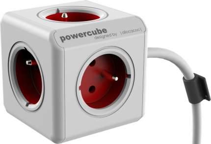Удлинитель Allocacoc PowerCube Extended 1300RD/DEEXPC, 5 розеток, 1,5 м, White/Red