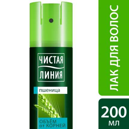 Лак для укладки волос Чистая Линия Объем от корней 200 мл
